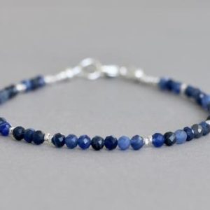 Shop Sodalite Bracelets! Sodalite Bracelet Gemstone Bracelet Blue Bracelet Sodalite Gemstone Bracelet Gift For Her   Natural genuine Sodalite bracelets. Buy crystal jewelry, handmade handcrafted artisan jewelry for women.  Unique handmade gift ideas. #jewelry #beadedbracelets #beadedjewelry #gift #shopping #handmadejewelry #fashion #style #product #bracelets #affiliate #ad