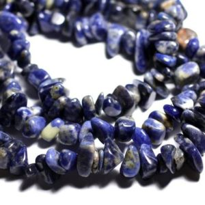 Shop Sodalite Chip & Nugget Beads! Thread 155pc approx 89cm – beads of stone – Sodalite large rock Chips 6-19mm   Natural genuine chip Sodalite beads for beading and jewelry making.  #jewelry #beads #beadedjewelry #diyjewelry #jewelrymaking #beadstore #beading #affiliate #ad
