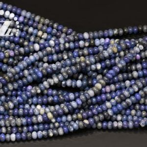 """Shop Sodalite Rondelle Beads! Sodalite smooth rondelle spacer beads,roundel bead,abacus bead,wheel bead,Blue Sodalite,4x6mm 5x8mm 6x10mm for choice,15"""" full strand 