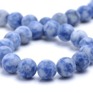 Shop Sodalite Round Beads! 4mm Matte Sodalite Gemstone Blue White Round Loose Beads 15 inch Full Strand (80002266-M5) | Natural genuine round Sodalite beads for beading and jewelry making.  #jewelry #beads #beadedjewelry #diyjewelry #jewelrymaking #beadstore #beading #affiliate #ad