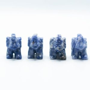Shop Sodalite Shapes! Sodalite Elephant Carvings // Polished Sodalite // Elephant Statue // Metaphysical Crystal // Mineral // Village Silversmith | Natural genuine stones & crystals in various shapes & sizes. Buy raw cut, tumbled, or polished gemstones for making jewelry or crystal healing energy vibration raising reiki stones. #crystals #gemstones #crystalhealing #crystalsandgemstones #energyhealing #affiliate #ad