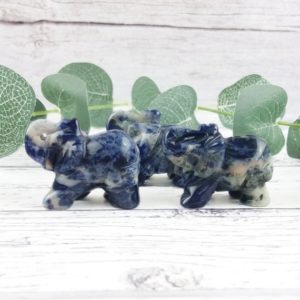 Shop Sodalite Shapes! Sodalite Elephant Statue, Reiki Infused Crystal Elephant, Self Care Mindfulness Gift | Natural genuine stones & crystals in various shapes & sizes. Buy raw cut, tumbled, or polished gemstones for making jewelry or crystal healing energy vibration raising reiki stones. #crystals #gemstones #crystalhealing #crystalsandgemstones #energyhealing #affiliate #ad