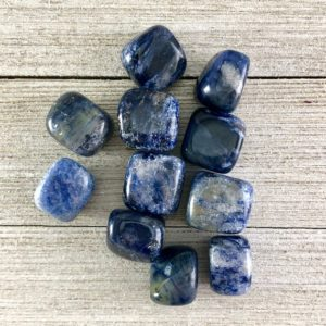 Shop Tumbled Sodalite Crystals & Pocket Stones! Tumbled Sodalite Polished Stone | Natural genuine stones & crystals in various shapes & sizes. Buy raw cut, tumbled, or polished gemstones for making jewelry or crystal healing energy vibration raising reiki stones. #crystals #gemstones #crystalhealing #crystalsandgemstones #energyhealing #affiliate #ad
