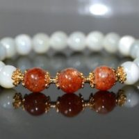 Aaaaa Grade 8mm Genuine Sunstone Beaded Statement Bracelets Energized Healing Sunstone Beads Natural Gemstone Stacking Handmade Jewelry Gift | Natural genuine Gemstone jewelry. Buy crystal jewelry, handmade handcrafted artisan jewelry for women.  Unique handmade gift ideas. #jewelry #beadedjewelry #beadedjewelry #gift #shopping #handmadejewelry #fashion #style #product #jewelry #affiliate #ad