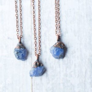 Shop Tanzanite Necklaces! Raw Tanzanite Necklace | Raw Stone Necklace | Copper & Tanzanite Necklace | Electroformed Jewelry | Birthstone Jewelry | Birthstone Necklace | Natural genuine Tanzanite necklaces. Buy crystal jewelry, handmade handcrafted artisan jewelry for women.  Unique handmade gift ideas. #jewelry #beadednecklaces #beadedjewelry #gift #shopping #handmadejewelry #fashion #style #product #necklaces #affiliate #ad