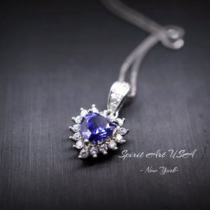 Shop Tanzanite Pendants! Minimalist Tiny Tanzanite Heart Necklace – Tanzanite Necklace – White Gold Plated Sterling Silver – December Birthstone Tanzanite Pendant | Natural genuine Tanzanite pendants. Buy crystal jewelry, handmade handcrafted artisan jewelry for women.  Unique handmade gift ideas. #jewelry #beadedpendants #beadedjewelry #gift #shopping #handmadejewelry #fashion #style #product #pendants #affiliate #ad