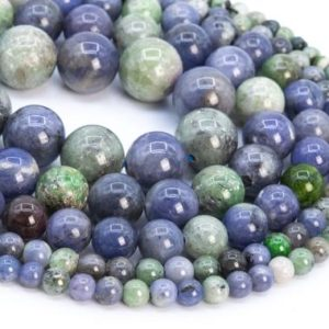 Shop Tanzanite Round Beads! Genuine Natural Green Blue Tanzanite Loose Beads Grade A Round Shape 6mm 9mm 11mm 13-14mm   Natural genuine round Tanzanite beads for beading and jewelry making.  #jewelry #beads #beadedjewelry #diyjewelry #jewelrymaking #beadstore #beading #affiliate #ad