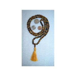 Tiger Eye Mala Beads Necklace Tigers Eye Jewelry 108 Mantra Meditation Necklace Gemstone Chakra Healing Beaded Spiritual Gifts For Women Men | Natural genuine Gemstone necklaces. Buy crystal jewelry, handmade handcrafted artisan jewelry for women.  Unique handmade gift ideas. #jewelry #beadednecklaces #beadedjewelry #gift #shopping #handmadejewelry #fashion #style #product #necklaces #affiliate #ad