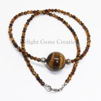 Natural Tiger Eye Beaded Necklace, 2mm Genuine Tigers Eye Necklace For Man Women Jewelry Gift, Boho Necklace, golden Tiger Eye Beads Necklace   Natural genuine Gemstone jewelry. Buy crystal jewelry, handmade handcrafted artisan jewelry for women.  Unique handmade gift ideas. #jewelry #beadedjewelry #beadedjewelry #gift #shopping #handmadejewelry #fashion #style #product #jewelry #affiliate #ad