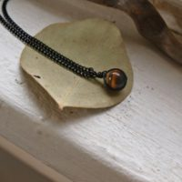 Round Tigers Eye Necklace Men Tigers Eye Necklace For Woman Dainty Healing Crystal Necklace Small Brown Crystal Necklace Gift For Man | Natural genuine Gemstone jewelry. Buy crystal jewelry, handmade handcrafted artisan jewelry for women.  Unique handmade gift ideas. #jewelry #beadedjewelry #beadedjewelry #gift #shopping #handmadejewelry #fashion #style #product #jewelry #affiliate #ad