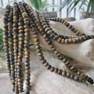 Shop Tiger Eye Rondelle Beads! Big Hole Bead 8 mm Rondelle Yellow Tiger Eye Matte Finish Large Hole Fits Leather Cord  34-38 beads | Natural genuine rondelle Tiger Eye beads for beading and jewelry making.  #jewelry #beads #beadedjewelry #diyjewelry #jewelrymaking #beadstore #beading #affiliate #ad