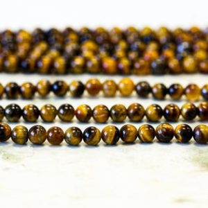 """Shop Tiger Eye Round Beads! S-XS/ Tiger Eye 4mm/ 3mm/ 2mm Smooth Round loose beads 16"""" strand Natural Gemstone Beads for jewelry making   Natural genuine round Tiger Eye beads for beading and jewelry making.  #jewelry #beads #beadedjewelry #diyjewelry #jewelrymaking #beadstore #beading #affiliate #ad"""
