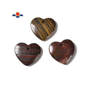 Shop Tiger Iron Pendants! Multi Color Iron Tiger Eye Heart Shape Pendant Size 45mm 50mm Sold per Piece | Natural genuine Tiger Iron pendants. Buy crystal jewelry, handmade handcrafted artisan jewelry for women.  Unique handmade gift ideas. #jewelry #beadedpendants #beadedjewelry #gift #shopping #handmadejewelry #fashion #style #product #pendants #affiliate #ad