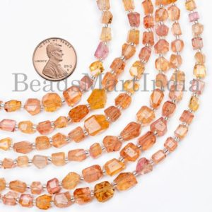 Shop Topaz Beads! Rare Imperial Topaz Faceted Beads, Imperial Topaz Beads, Imperial Topaz Nuggets Shape Beads, Imperial Topaz Faceted Nuggets Gemstone Beads | Natural genuine beads Topaz beads for beading and jewelry making.  #jewelry #beads #beadedjewelry #diyjewelry #jewelrymaking #beadstore #beading #affiliate #ad