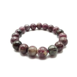 """Shop Tourmaline Bracelets! Multi-Color Tourmaline Bracelet Smooth Round Size 10mm 7.5"""" Length 