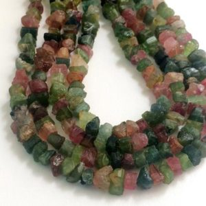 Shop Tourmaline Chip & Nugget Beads! 6-9mm Raw Multi Tourmaline Stones, Natural Loose Raw Gemstone, Multi Tourmaline Rough Beads, Tourmaline Rough Nuggets (7IN To 14IN Options) | Natural genuine chip Tourmaline beads for beading and jewelry making.  #jewelry #beads #beadedjewelry #diyjewelry #jewelrymaking #beadstore #beading #affiliate #ad