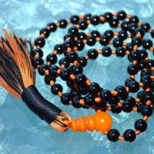Shop Tourmaline Necklaces! Black Mala Prayer Beads 108 Knotted, AAA Tourmaline Multi Color, Semi Precious, Meditation Yoga, Spiritual Chakra Jewelry, Tassel Necklace | Natural genuine Tourmaline necklaces. Buy crystal jewelry, handmade handcrafted artisan jewelry for women.  Unique handmade gift ideas. #jewelry #beadednecklaces #beadedjewelry #gift #shopping #handmadejewelry #fashion #style #product #necklaces #affiliate #ad