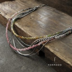 Tourmaline necklace – oxidized sterling silver and tourmaline, layered necklace | Natural genuine Tourmaline necklaces. Buy crystal jewelry, handmade handcrafted artisan jewelry for women.  Unique handmade gift ideas. #jewelry #beadednecklaces #beadedjewelry #gift #shopping #handmadejewelry #fashion #style #product #necklaces #affiliate #ad