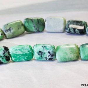 Shop Turquoise Bead Shapes! M/ Green Turquoise 13x18mm/ 10x14mm/ 8x12mm Flat Rectangle beads Polished bright green with black matrix Flat Rectangle Shape Jewelry Making   Natural genuine other-shape Turquoise beads for beading and jewelry making.  #jewelry #beads #beadedjewelry #diyjewelry #jewelrymaking #beadstore #beading #affiliate #ad