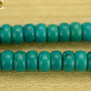 """Shop Turquoise Rondelle Beads! Turquoise smooth rondelle beads,Turquoise,green color,Natural,gemstone,2x4mm 4x6mm for choice,15"""" full strand   Natural genuine rondelle Turquoise beads for beading and jewelry making.  #jewelry #beads #beadedjewelry #diyjewelry #jewelrymaking #beadstore #beading #affiliate #ad"""