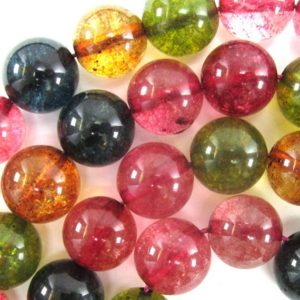 """Shop Watermelon Tourmaline Beads! Watermelon Tourmaline Colored Quartz Round Beads 15"""" 4mm 6mm 8mm 10mm 12mm 