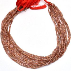 """Shop Zircon Beads! Natural Red Zircon Rondelle 2mm-3mm Micro Faceted Beads   13"""" Strand   AAA+ Red Zircon Semi Precious Gemstone Loose Beads for Jewelry Making   Natural genuine faceted Zircon beads for beading and jewelry making.  #jewelry #beads #beadedjewelry #diyjewelry #jewelrymaking #beadstore #beading #affiliate #ad"""