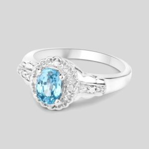 Shop Zircon Rings! Blue Zircon Ring, Blue Zircon Silver Ring, Natural Blue Zircon Oval Cocktail Ring, Zircon Silver Ring   Natural genuine Zircon rings, simple unique handcrafted gemstone rings. #rings #jewelry #shopping #gift #handmade #fashion #style #affiliate #ad