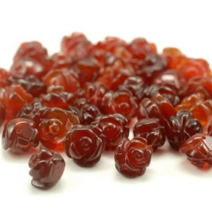 Shop Agate Bead Shapes! 8MM Red Agate Gemstone Carved Flower Beads  BULK LOT 5,10,20,30,50 (90187253-002) | Natural genuine other-shape Agate beads for beading and jewelry making.  #jewelry #beads #beadedjewelry #diyjewelry #jewelrymaking #beadstore #beading #affiliate #ad