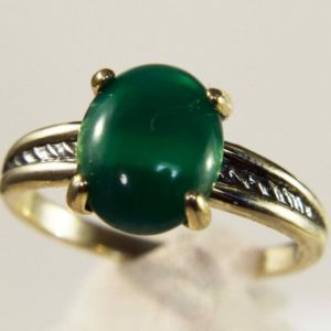 Shop Agate Rings! Green Agate Ring, Genuine Gemstone 10×8 mm Oval Set in 925 Sterling Silver Solitaire Rope Design Ring   Natural genuine Agate rings, simple unique handcrafted gemstone rings. #rings #jewelry #shopping #gift #handmade #fashion #style #affiliate #ad