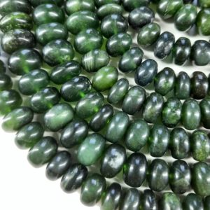 """Shop Serpentine Rondelle Beads! Amazing 8"""" Strand Green Serpentine Smooth Rondelle Shape Gemstone Beads   Natural genuine rondelle Serpentine beads for beading and jewelry making.  #jewelry #beads #beadedjewelry #diyjewelry #jewelrymaking #beadstore #beading #affiliate #ad"""