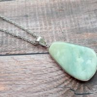 Amazonite Necklace, Crystals And Stones, Stone Necklace, Gift For Sister, Pendulum, Gifts For Her,  Raw Amazonite, Emf Protection, 4 | Natural genuine Gemstone jewelry. Buy crystal jewelry, handmade handcrafted artisan jewelry for women.  Unique handmade gift ideas. #jewelry #beadedjewelry #beadedjewelry #gift #shopping #handmadejewelry #fashion #style #product #jewelry #affiliate #ad