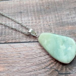 Shop Amazonite Necklaces! Amazonite necklace, crystals and stones, stone necklace, gift for sister, pendulum, gifts for her,  raw amazonite, emf protection, 4 | Natural genuine Amazonite necklaces. Buy crystal jewelry, handmade handcrafted artisan jewelry for women.  Unique handmade gift ideas. #jewelry #beadednecklaces #beadedjewelry #gift #shopping #handmadejewelry #fashion #style #product #necklaces #affiliate #ad