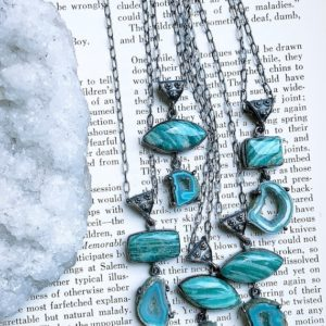 Shop Amazonite Necklaces! Amazonite necklace, druzy necklace | Natural genuine Amazonite necklaces. Buy crystal jewelry, handmade handcrafted artisan jewelry for women.  Unique handmade gift ideas. #jewelry #beadednecklaces #beadedjewelry #gift #shopping #handmadejewelry #fashion #style #product #necklaces #affiliate #ad