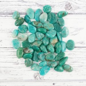 Shop Tumbled Amazonite Crystals & Pocket Stones! Amazonite Tumbled Stones, Reiki Infused Wire Wrapping Self Care Healing Crystals | Natural genuine stones & crystals in various shapes & sizes. Buy raw cut, tumbled, or polished gemstones for making jewelry or crystal healing energy vibration raising reiki stones. #crystals #gemstones #crystalhealing #crystalsandgemstones #energyhealing #affiliate #ad