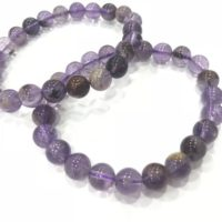 Genuine Amethyst Phantom 6mm – 12mm Round Purple Garden Quartz Ghost Crystal Beads Finished Bracelet – 1piece | Natural genuine Gemstone jewelry. Buy crystal jewelry, handmade handcrafted artisan jewelry for women.  Unique handmade gift ideas. #jewelry #beadedjewelry #beadedjewelry #gift #shopping #handmadejewelry #fashion #style #product #jewelry #affiliate #ad
