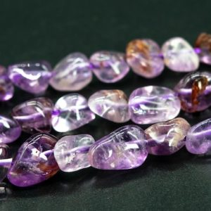 """Shop Amethyst Chip & Nugget Beads! 5-7MM Amethyst Cacoxenite Inclusions Quartz Beads Pebble Chips Grade AAA Genuine Natural Loose Bead 15.5"""" / 7.5"""" Bulk Lot Options (115634) 