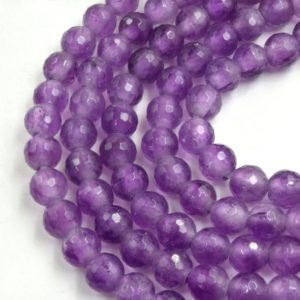 """Shop Amethyst Faceted Beads! Large Hole Amethyst Beads   Natural Amethyst Faceted Round Shaped Beads with 2.5mm Holes – 7.75"""" Strand   Natural genuine faceted Amethyst beads for beading and jewelry making.  #jewelry #beads #beadedjewelry #diyjewelry #jewelrymaking #beadstore #beading #affiliate #ad"""