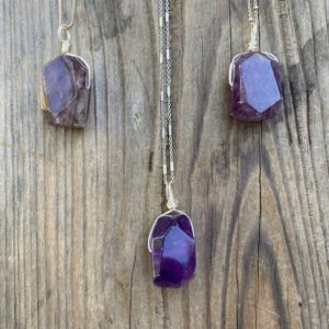 Shop Amethyst Pendants! Chakra Jewelry /Amethyst / Amethyst Pendant / Amethyst Necklace / Amethyst Nugget / Reiki Jewelry / Healing Stone / Sterling Silver | Natural genuine Amethyst pendants. Buy crystal jewelry, handmade handcrafted artisan jewelry for women.  Unique handmade gift ideas. #jewelry #beadedpendants #beadedjewelry #gift #shopping #handmadejewelry #fashion #style #product #pendants #affiliate #ad