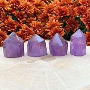 Shop Amethyst Points & Wands! You Choose – Amethyst Crystal Generator – Amethyst Crystal Point – Healing Crystals – Crystal Decor – Natural Stone – Sacred Stone   Natural genuine stones & crystals in various shapes & sizes. Buy raw cut, tumbled, or polished gemstones for making jewelry or crystal healing energy vibration raising reiki stones. #crystals #gemstones #crystalhealing #crystalsandgemstones #energyhealing #affiliate #ad