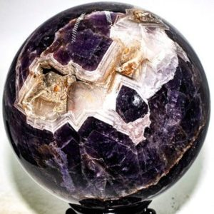 """Shop Amethyst Shapes! Chevron Amethyst Geode Sphere 5.6"""" diameter and weighs 8.92 lbs 