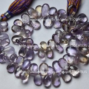 Shop Ametrine Bead Shapes! 8 Inches Strand, Natural Ametrine Smooth Pear Shape Briolette Size 9-12mm   Natural genuine other-shape Ametrine beads for beading and jewelry making.  #jewelry #beads #beadedjewelry #diyjewelry #jewelrymaking #beadstore #beading #affiliate #ad