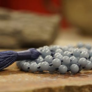 Shop Angelite Necklaces! Angelite Mala • Angelite Necklace • Blue Mala • 8mm • Gift for Her • 3732   Natural genuine Angelite necklaces. Buy crystal jewelry, handmade handcrafted artisan jewelry for women.  Unique handmade gift ideas. #jewelry #beadednecklaces #beadedjewelry #gift #shopping #handmadejewelry #fashion #style #product #necklaces #affiliate #ad