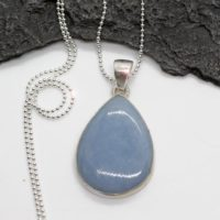Nothing But Blue Skies – Beautiful Angelite Sterling Silver Necklace | Natural genuine Gemstone jewelry. Buy crystal jewelry, handmade handcrafted artisan jewelry for women.  Unique handmade gift ideas. #jewelry #beadedjewelry #beadedjewelry #gift #shopping #handmadejewelry #fashion #style #product #jewelry #affiliate #ad