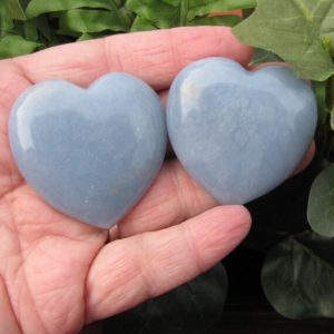 Shop Angelite Stones & Crystals! Angelite – Heart – Angelite Crystal – Angelite Stone – Blue Heart – Gemstone Heart – Metaphysical Stone -Healing Stone -Psychic Stone -45 mm   Natural genuine stones & crystals in various shapes & sizes. Buy raw cut, tumbled, or polished gemstones for making jewelry or crystal healing energy vibration raising reiki stones. #crystals #gemstones #crystalhealing #crystalsandgemstones #energyhealing #affiliate #ad