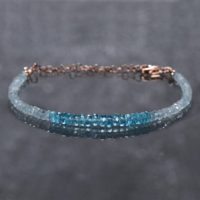 Genuine Aquamarine Bracelet | Sterling Silver Gemstone Jewelry | Hill Tribes Silver Double Wrap Bracelet | Blue Green Apatite Bead Jewelry | Natural genuine Gemstone jewelry. Buy crystal jewelry, handmade handcrafted artisan jewelry for women.  Unique handmade gift ideas. #jewelry #beadedjewelry #beadedjewelry #gift #shopping #handmadejewelry #fashion #style #product #jewelry #affiliate #ad