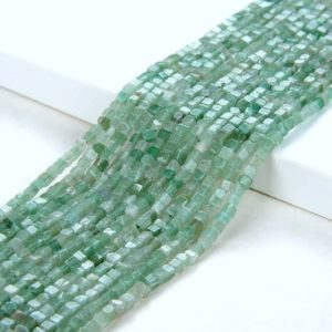 Shop Aventurine Chip & Nugget Beads! 2MM Aventurine Gemstone Green Nugget Cube Beads 15.5 inch Full Strand (80008878-P13) | Natural genuine chip Aventurine beads for beading and jewelry making.  #jewelry #beads #beadedjewelry #diyjewelry #jewelrymaking #beadstore #beading #affiliate #ad