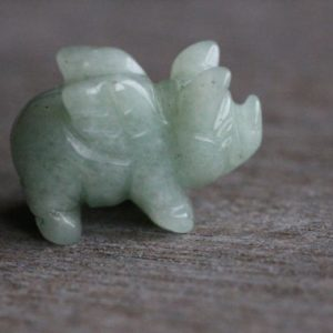 Aventurine Flying Pig Animal Figurine F303 | Natural genuine stones & crystals in various shapes & sizes. Buy raw cut, tumbled, or polished gemstones for making jewelry or crystal healing energy vibration raising reiki stones. #crystals #gemstones #crystalhealing #crystalsandgemstones #energyhealing #affiliate #ad