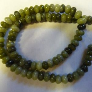 Shop Serpentine Beads! Bead, Serpentine, Natural, Gemstone, 8x5mm Rondelle, B grade, Mohs hardness 2-1/2 to 6, Pack Of 20 beads. | Natural genuine beads Serpentine beads for beading and jewelry making.  #jewelry #beads #beadedjewelry #diyjewelry #jewelrymaking #beadstore #beading #affiliate #ad