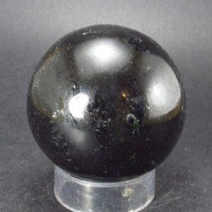 """Shop Black Tourmaline Shapes! Black Tourmaline Schorl 1.9"""" Sphere From Brazil 