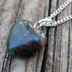 Shop Bloodstone Pendants! 925 – Natural Bloodstone Heart Necklace, Sterling Silver Bloodstone Pendant, Dainty Natural Stone Heart Pendant, Heart Jewelry, Bloodstone   Natural genuine Bloodstone pendants. Buy crystal jewelry, handmade handcrafted artisan jewelry for women.  Unique handmade gift ideas. #jewelry #beadedpendants #beadedjewelry #gift #shopping #handmadejewelry #fashion #style #product #pendants #affiliate #ad